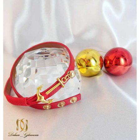دستبند چرمی دخترانه اسپرت قرمز Kiel James Patrick کد ds-n104 بر روی گوی