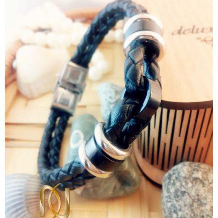 دستبند چرمی طرح گره برند Jwest