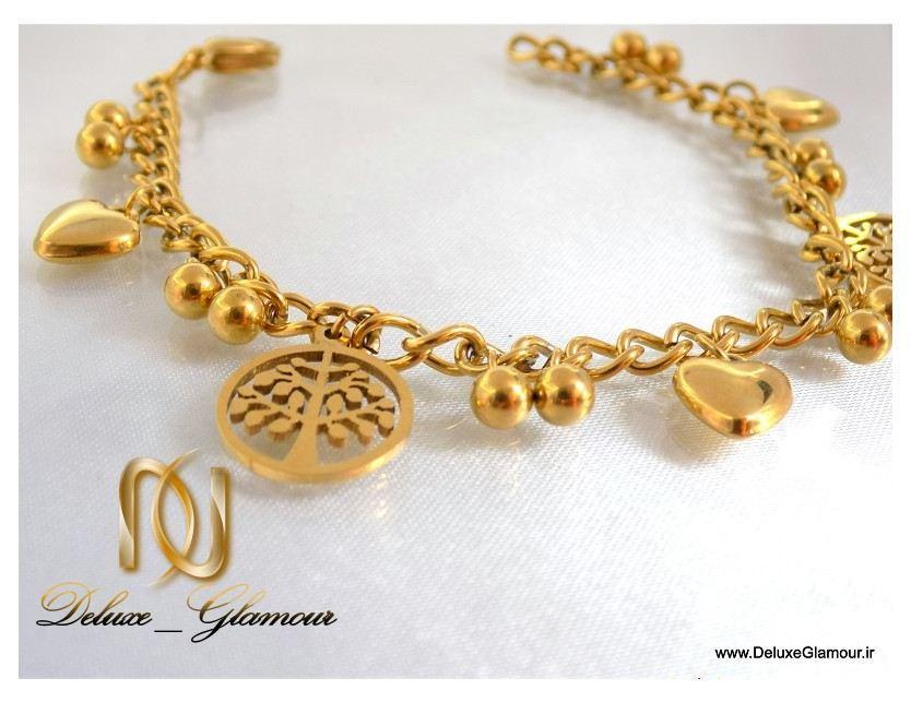 Uploaded To دستبند دخترانه طرح طلا آویزدار اسپرت زنجیری ds-n111 از نزدیک