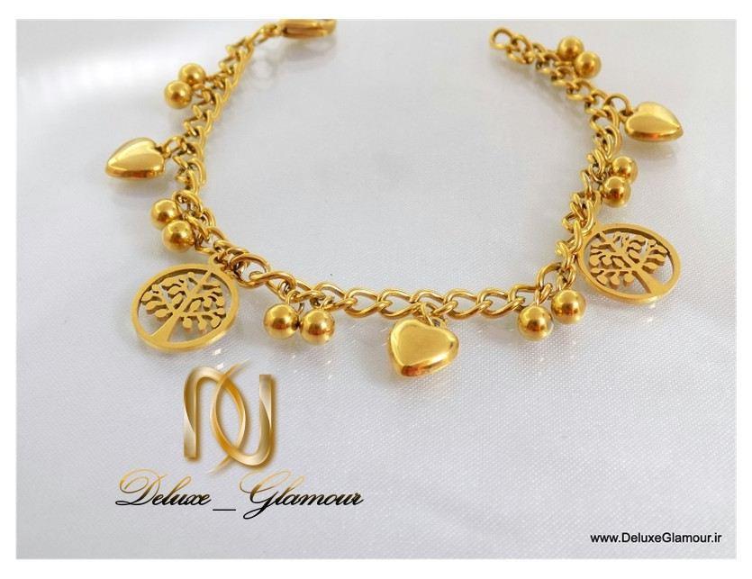 Uploaded To دستبند دخترانه طرح طلا آویزدار اسپرت زنجیری ds-n111 از بالا