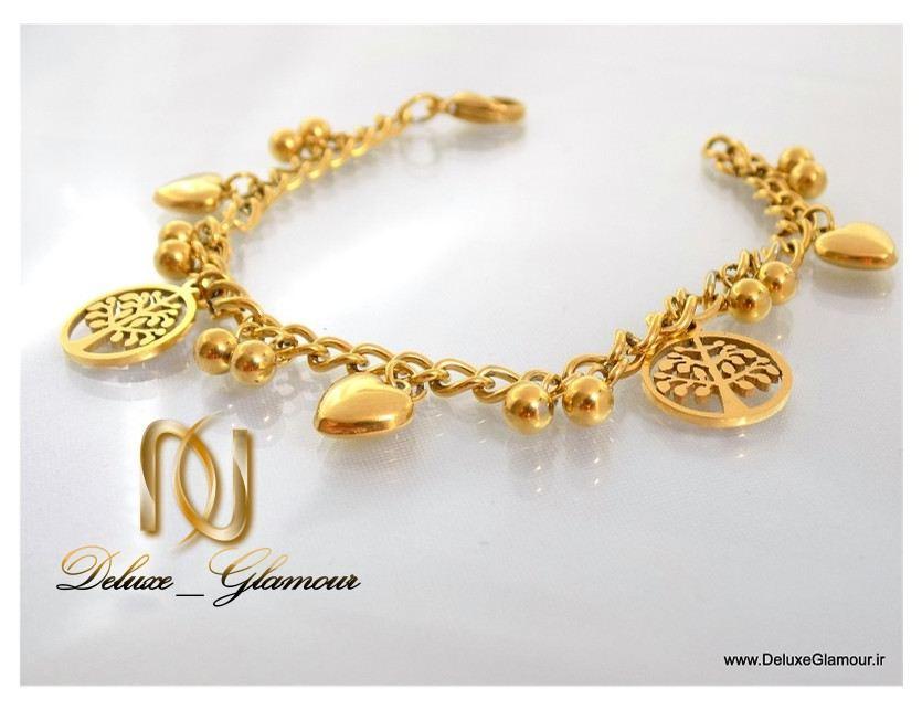 دستبند دخترانه طرح طلا آویزدار اسپرت زنجیری ds-n111