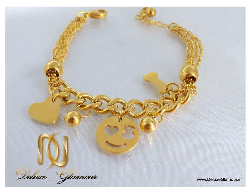 دستبند دخترانه طرح طلا آویزدار اسپرت زنجیری ds-n112 از نزدیک