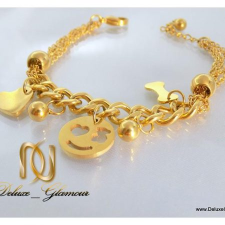 دستبند دخترانه طرح طلا آویزدار اسپرت زنجیری ds-n112