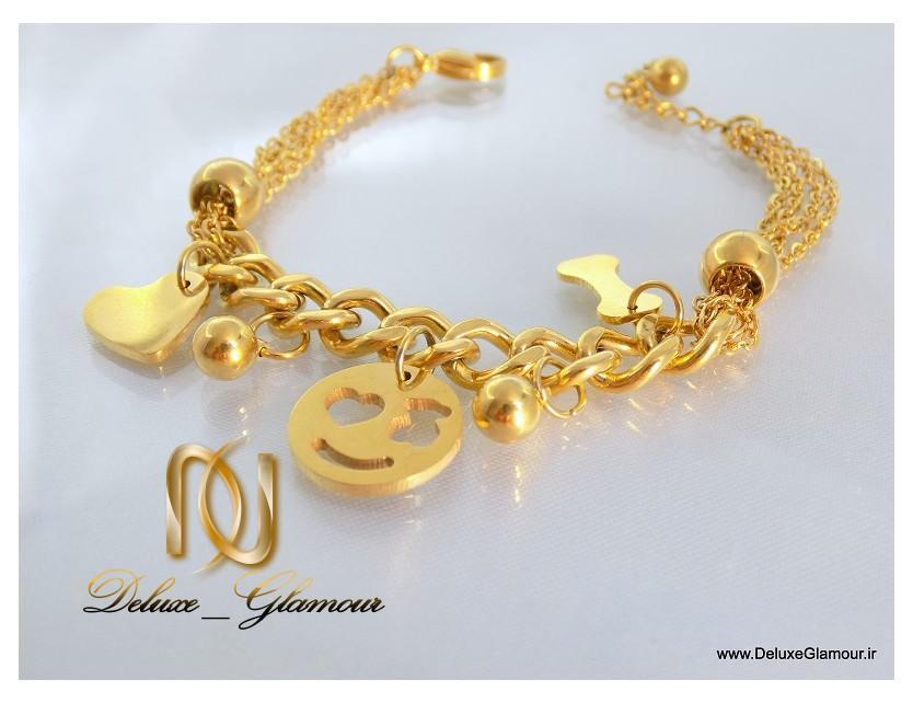 دستبند دخترانه طرح طلا آویزدار اسپرت زنجیری ds-n112 از کنار