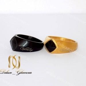 انگشتر مردانه لوکس Vitaly در دو رنگ طلایی و مشکی rg-n141 طلایی و مشکی