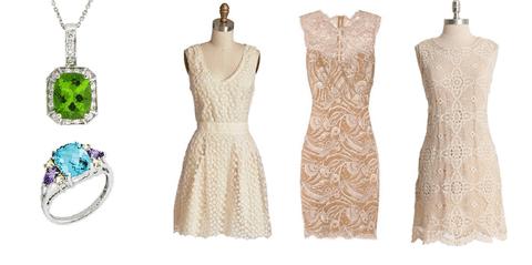 ست کردن رنگ لباس با زیورآلات و جواهرات رنگ های روشن
