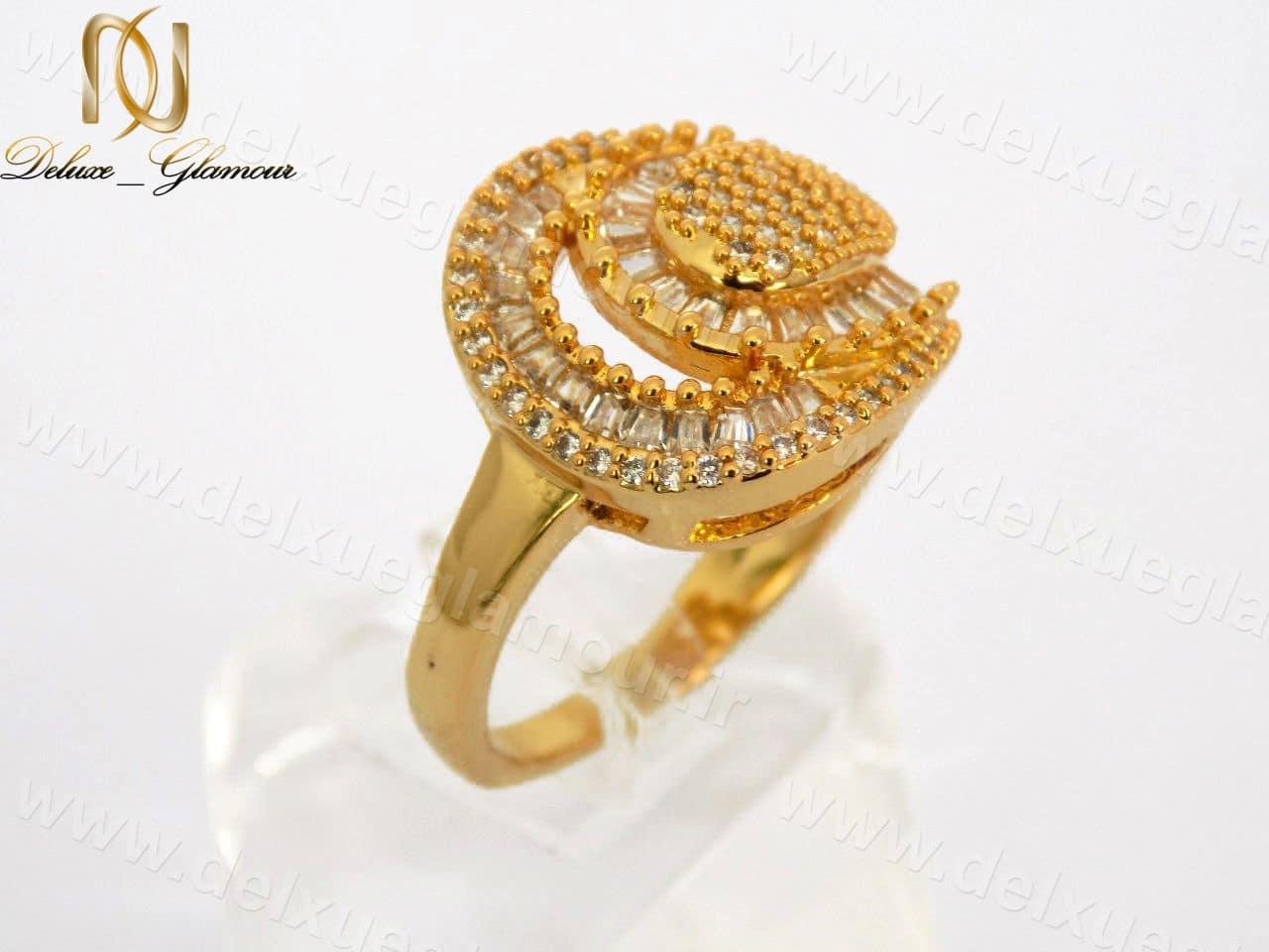 انگشتر زنانه طرح طلای تیتانومی نگین دار کد rg-n118