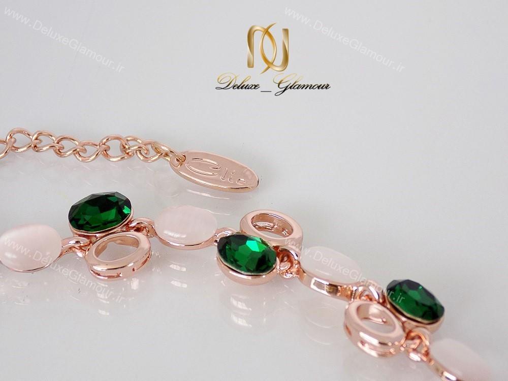 دستبند دخترانه لوکس کلیو با کریستال های سواروسکی cl-193-D