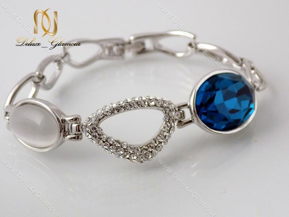 دستبند دخترانه لوکس کلیو با المان های سواروسکی cl-194-D