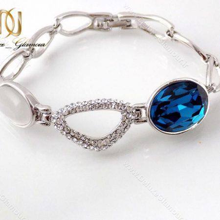 دستبند دخترانه لوکس کلیو با المان های سواروسکی cl-194-D از مقابل