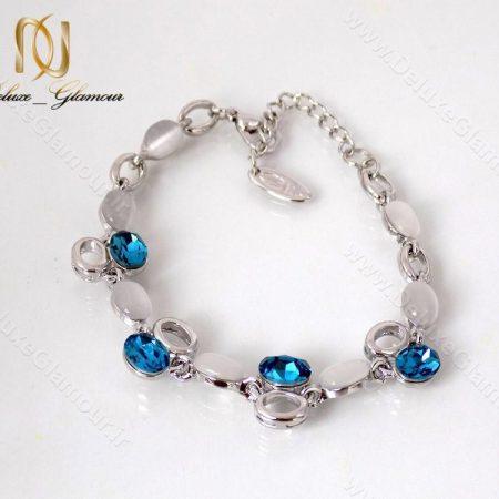 دستبند دخترانه اسپرت نقره ای کریستال سواروسکی کلیو ds-n122