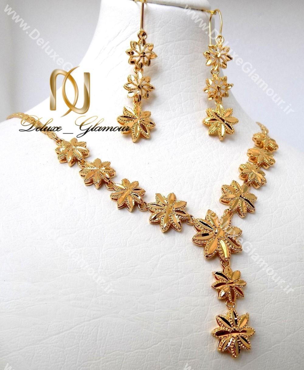 نیم ست زنانه طلایی برنجی طرح طلا کد NS-n112
