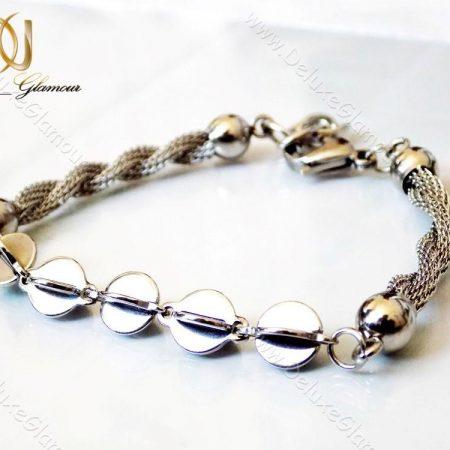 دستبند استیل دخترانه زنجیری مدل c2 رو میز