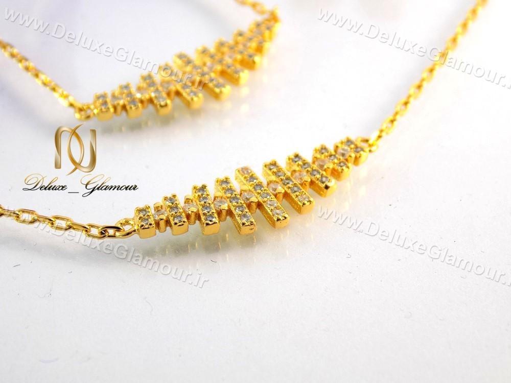 سرویس کامل زیورآلات طرح طلا نگین دار se-n112