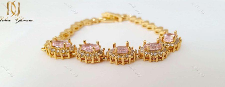 دستبند دخترانه نگین دار ژوپینگ xuping صورتی ds-n130
