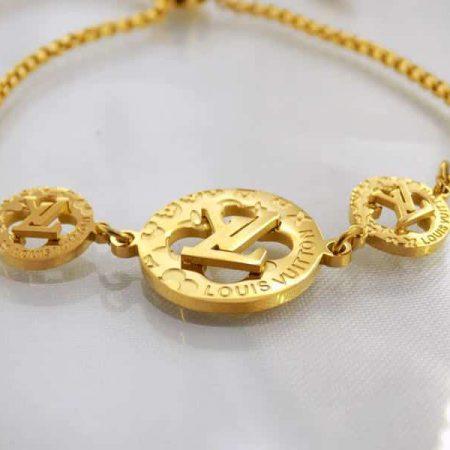 دستبند دخترانه مارشالی Louis Vuitton کد ds-126 از روبرو