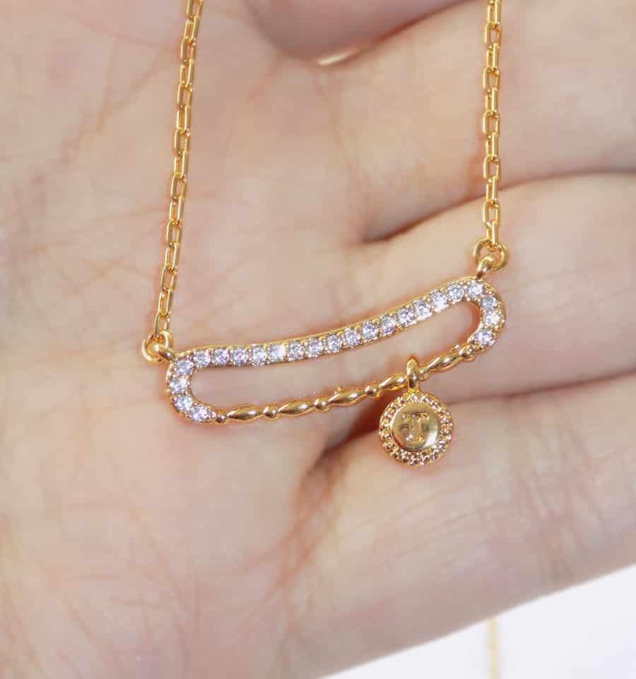 ست دستبند و گردنبند طرح طلا ظریف زنانه se-n108