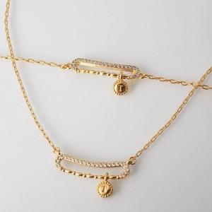 ست دستبند و گردنبند طرح طلا ظریف زنانه se-n108 از بالا