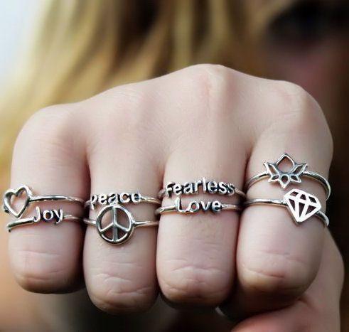 معنی انگشتر در انگشت های مختلف