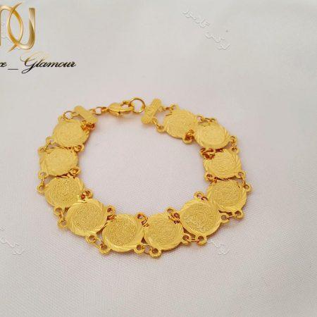 دستبند سکه ای دخترانه طرح طلا - سکه بزرگ ds-n127