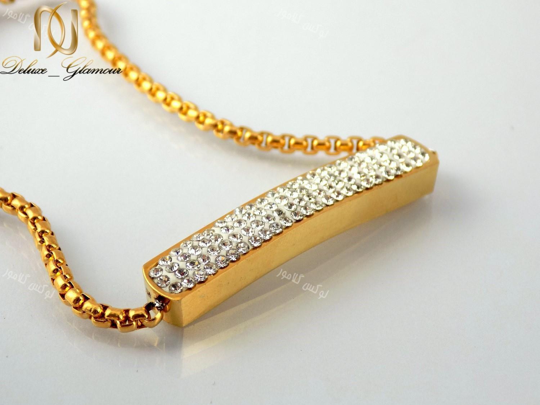 سرویس دخترانه نگین کریستالی طرح swatch طلایی se-n107