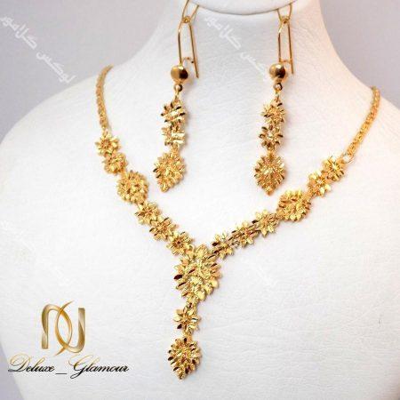 نیم ست برنجی طرح طلای زنانه - طرح خوشه کد NS-n113