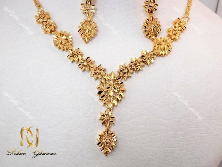 نیم ست برنجی طرح طلای زنانه – طرح خوشه کد NS-n113