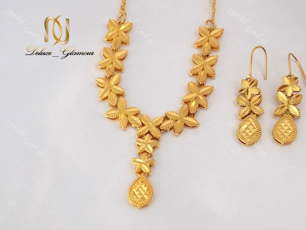 نیم ست برنجی طرح طلای زنانه – طرح اشک کد NS-n114