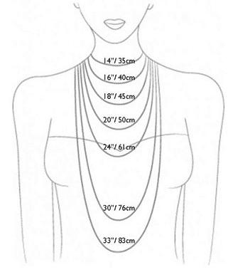 اندازه گردنبند