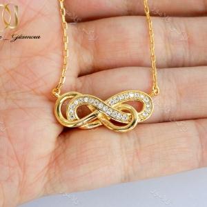 سرویس طرح طلا بی نهایت infinite زنانه استیل ظریف se-n95 گردنبند دست