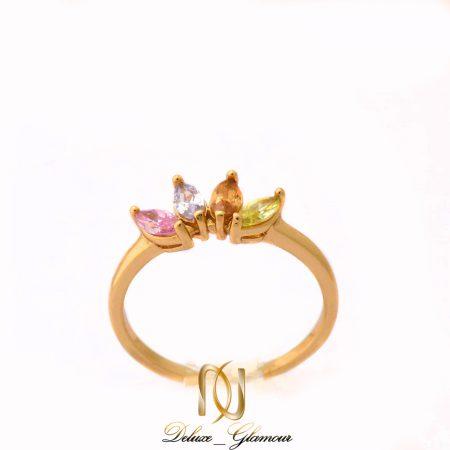 انگشتر دخترانه ژوپینگ با نگین های رنگی pr-111