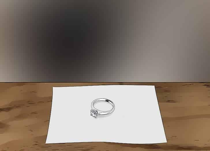 نحوه تمیز کردن انگشتر پلاتینی با نگین الماسی خشک کردن
