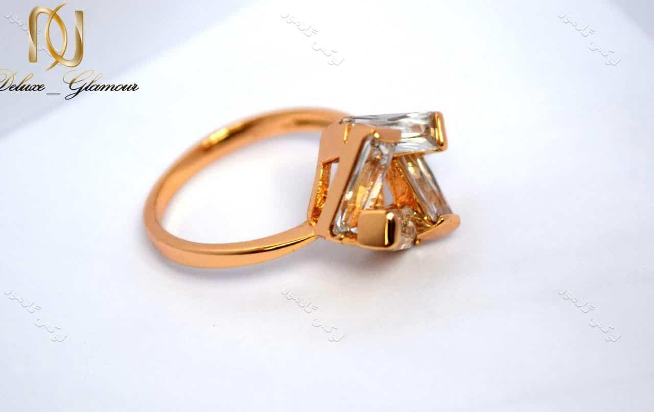 انگشتر دخترانه ظریف و طلایی ژوپینگ با کریستال زیرکن rg-n140