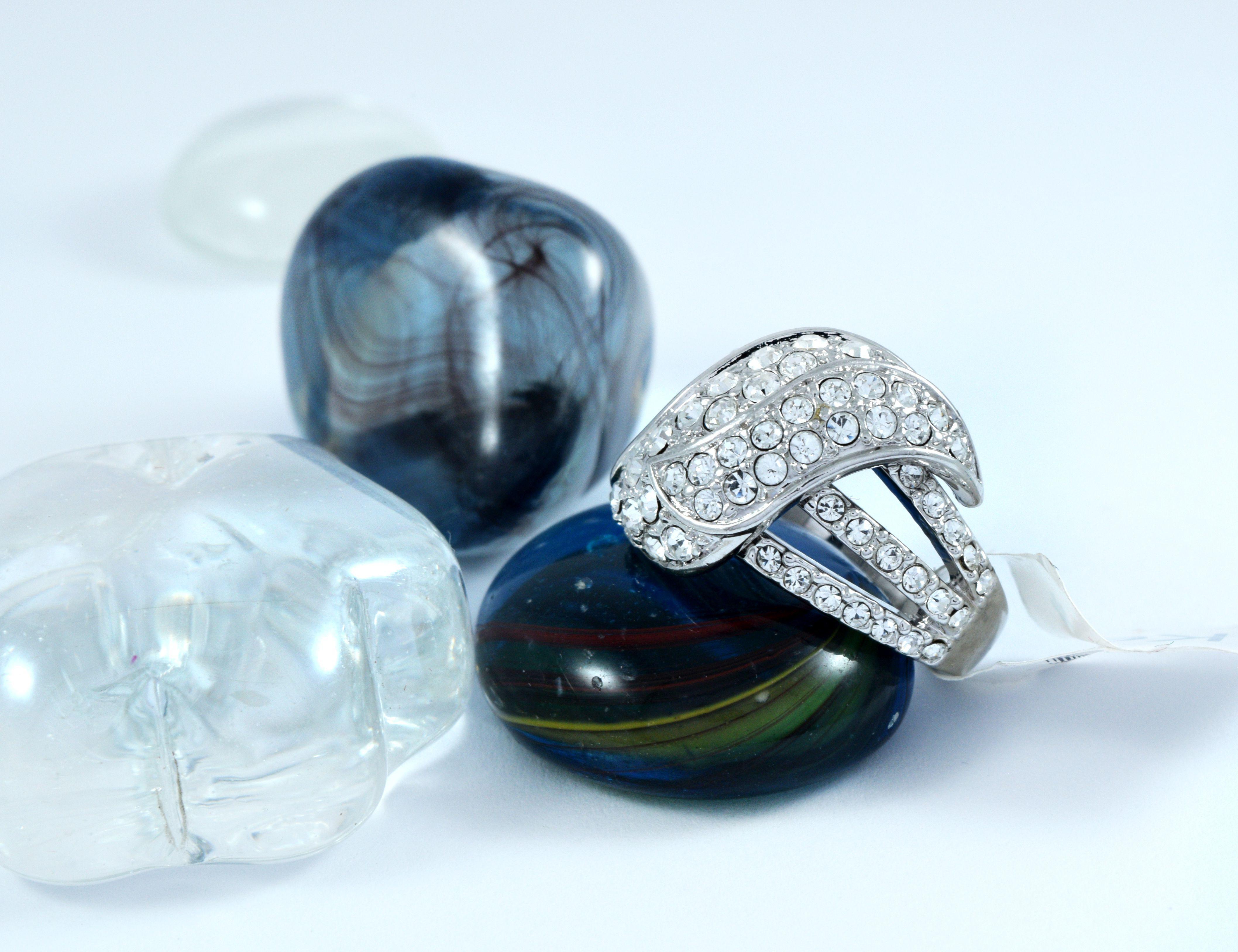 کریستال زیرکونیا انگشتر نقره ای ژوپینگ
