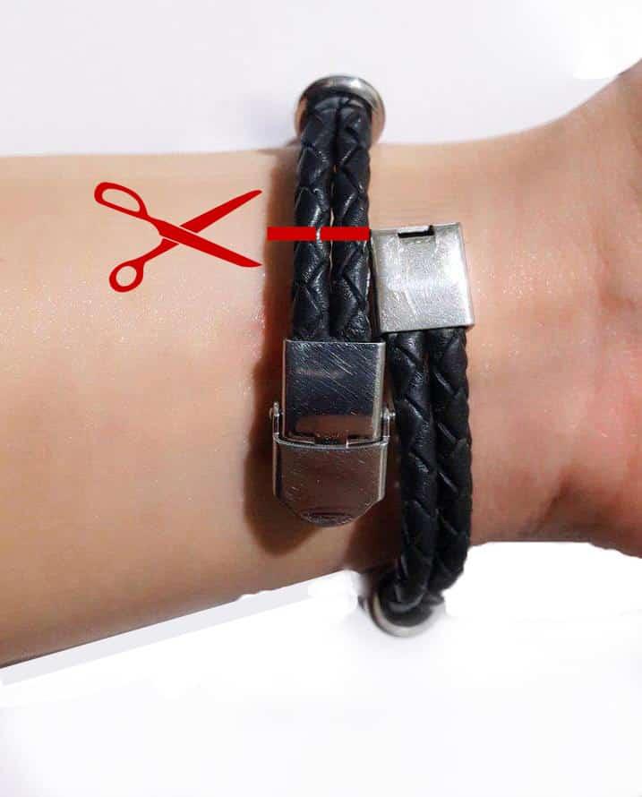 نحوه تغییر سایز دستبند علامت زدن محل برش