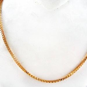 خرید زنجیر زنانه 21 سانتی برند ژوپینگ با روکش آب طلای 18 عیار de-z101 از نمای نزدیک