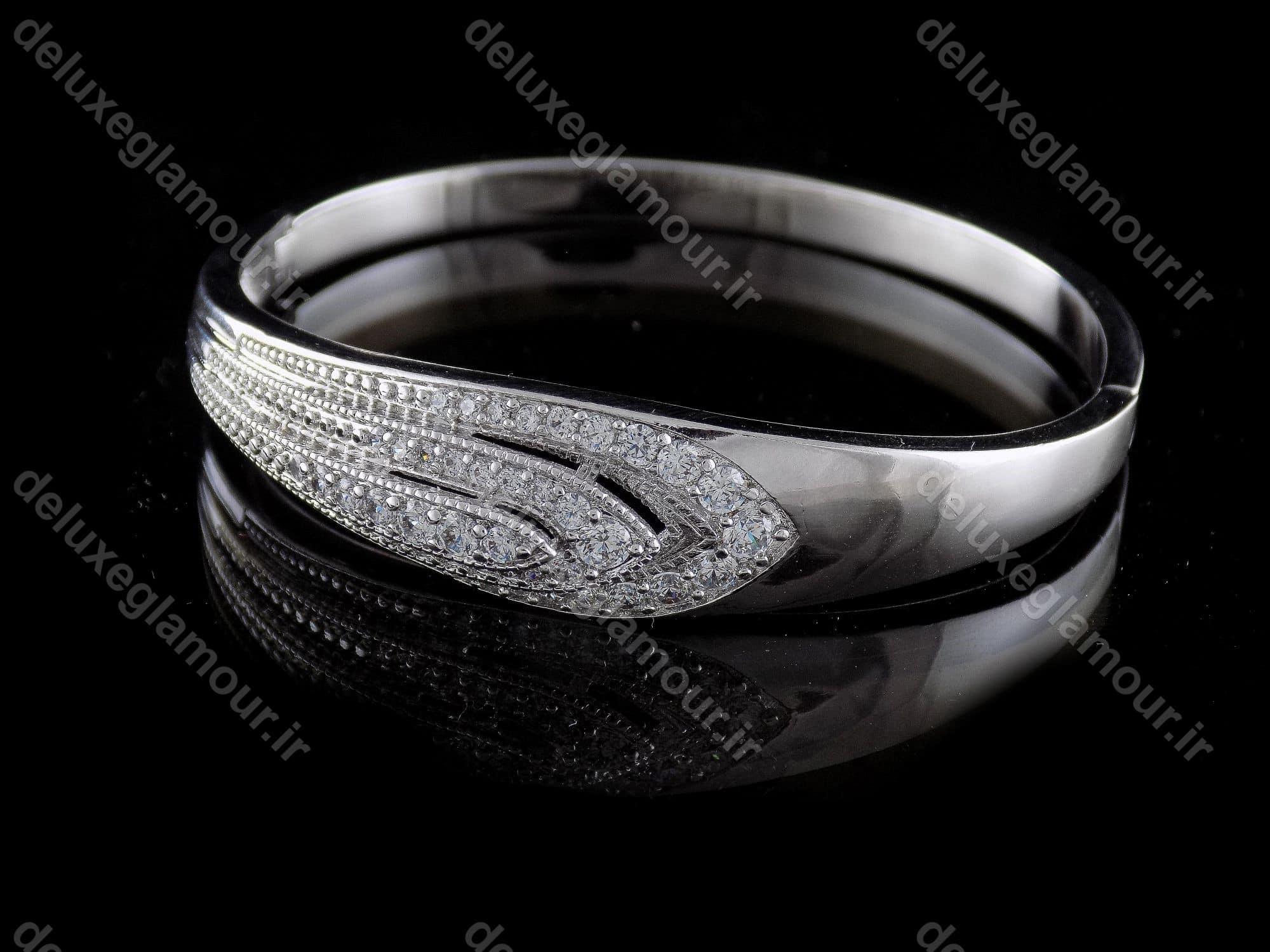 دستبند زنانه ژوپینگ با روکش ردایوم و نگین های کریستالی زیرکونیا ds-n167 (3)