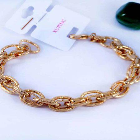 دستبند زنانه ژوپینگ طرح کارتیه با روکش آب طلای 18 عیار DS-N160 از نمای دور