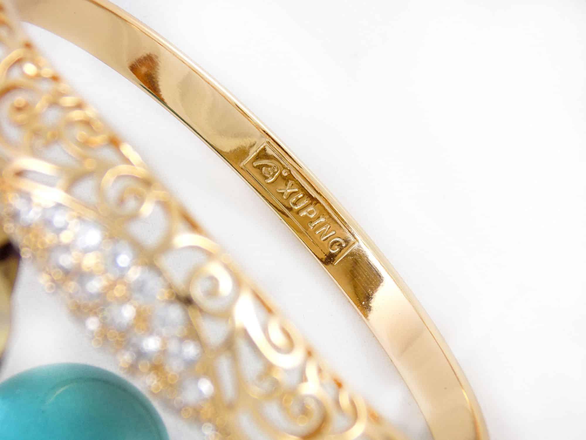 دستبند طرح طلای ژوپینگ با نگین های کریستالی سفید زیرکن ds-n162 (3)