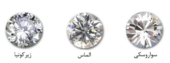 مقایسه کریستال های سواروسکی با زیرکونیا و الماس