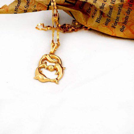 گردنبند دخترانه ژوپینگ ماه تولد اسفند ماه با نماد ماهی nw-n126 از نمای دور