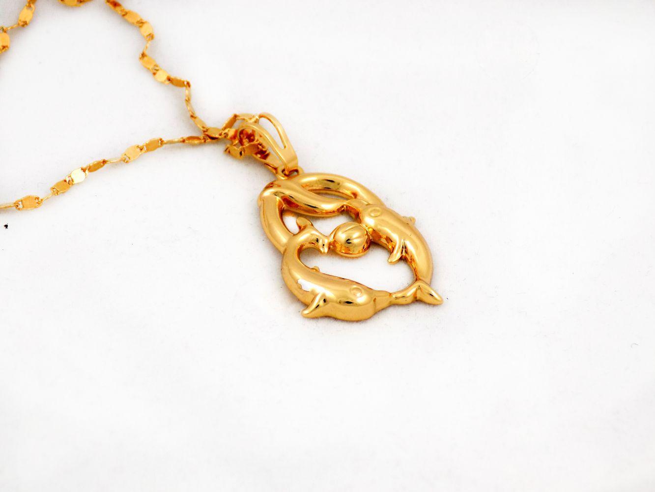 گردنبند دخترانه ژوپینگ ماه تولد اسفند ماه با نماد ماهی nw-n126