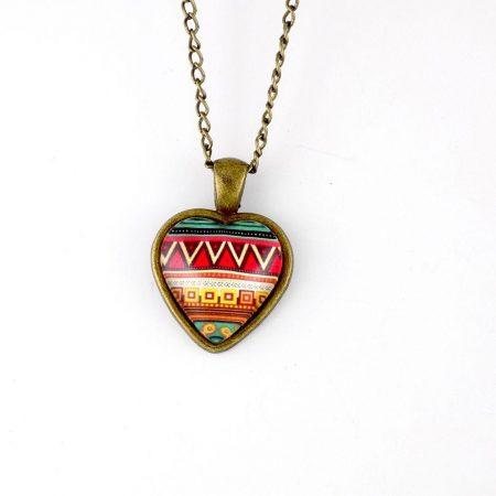گردنبند رومانتویی طرح قلب رزینی با زنجیر 37 سانتی دولا pr-ma115