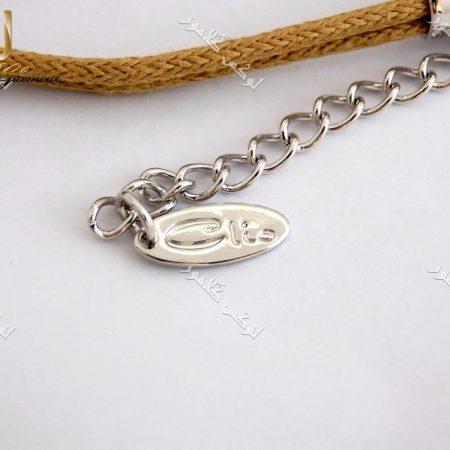 دستبند اسپرت دخترانه کلیو با کریستال سواروفسکی اصل و بند کنفی Ds-n154 عکس از برند حک شده