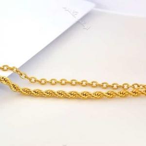 پابند دخترانه استیل دو ردیفه ی طلایی Se-n105 عکس با استند