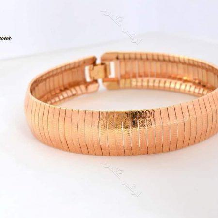 دستبند زنانه رزگلد ژوپینگ طرح ایتالیایی Ds-171 عکس اصلی