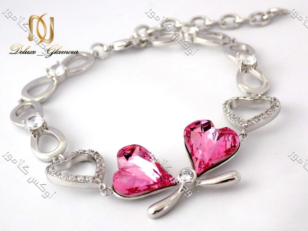 کریستال سواروسکی دستبند ژوپینگ طرح قلب