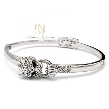 دستبند دخترانه جواهری سواروسکی ds-n196 از نمای سفید