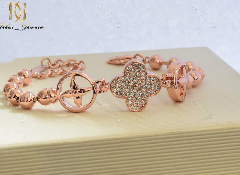 دستبند دخترانه طرح ون کلیف کلیو با کریستالهای سواروسکی Ds-n190 (2)