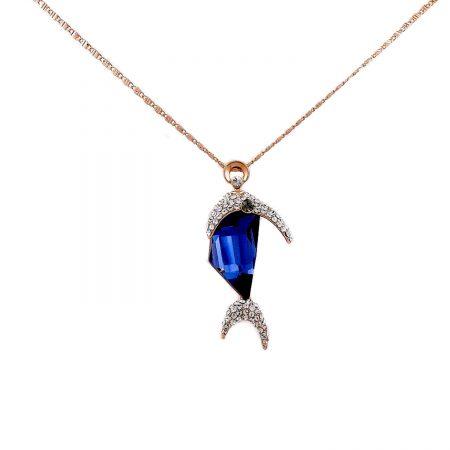گردنبند دخترانه طرح ماهی سواروسکی nw-n131